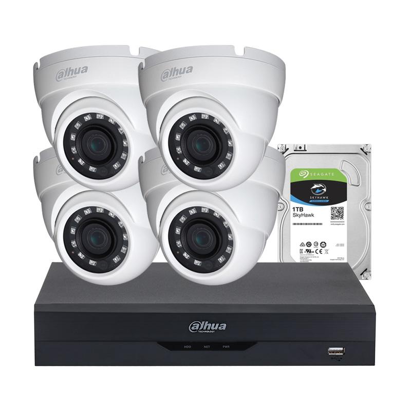 Комплект с 4 броя 2 Mpx камери за видеонаблюдение, XVR  и HDD
