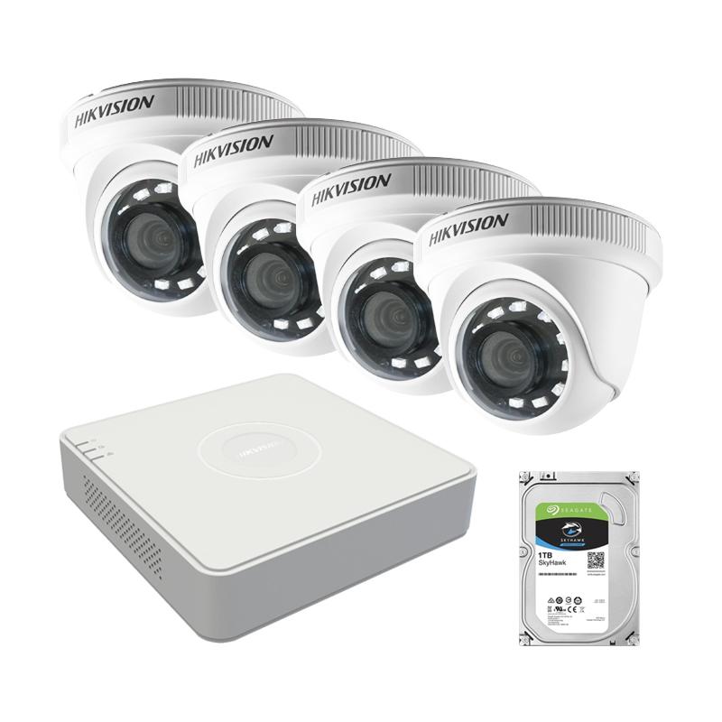 Бюджетен AHD комплект за видеонаблюдение с 4 камери и XVR Hikvision