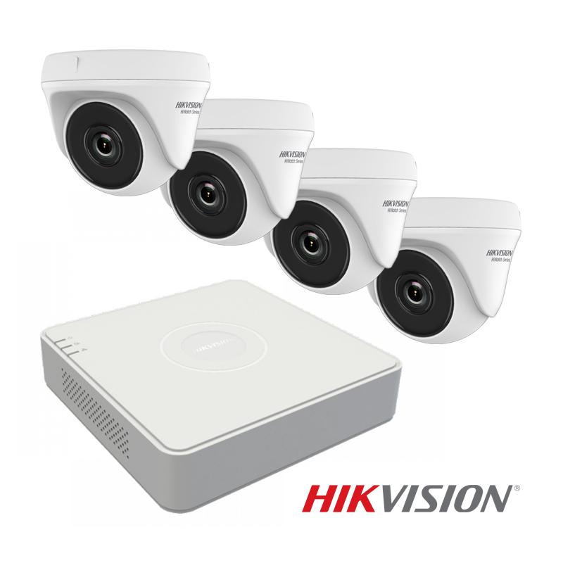 Комплект за видеонаблюдение с 4 Hikvision HWT-T120-P камери с 2MP резолюция и XVR Hikvision DS-7104HQHI-K1(S)