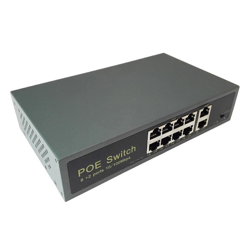 PoE суич - 8 PoE порта +2 Up link 10/100Mbps