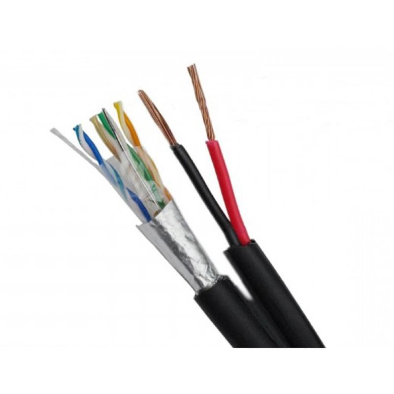 Комбиниран FTP кабел Cat 5e и 2х0,75мм на метър