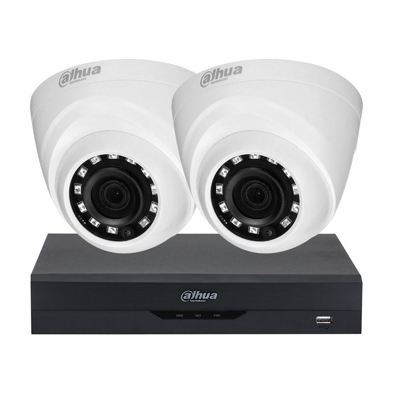 2MP комплект за видеонаблюдение Dahua с 2 камери и XVR