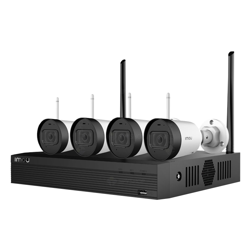 Комплект за видеонаблюдение DAHUA с 4 WIFI камери, NVR