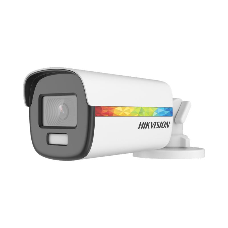 2 MPx камера TVI/AHD/CVI/CVBS Hikvision с ColorVu до 40 метра и алармена светлина