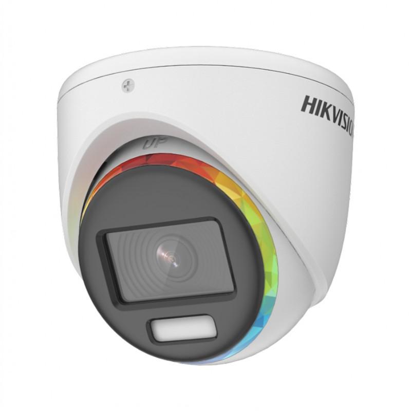 2 MPx куполна камера TVI/AHD/CVI/CVBS Hikvision с ColorVu и алармена светлина