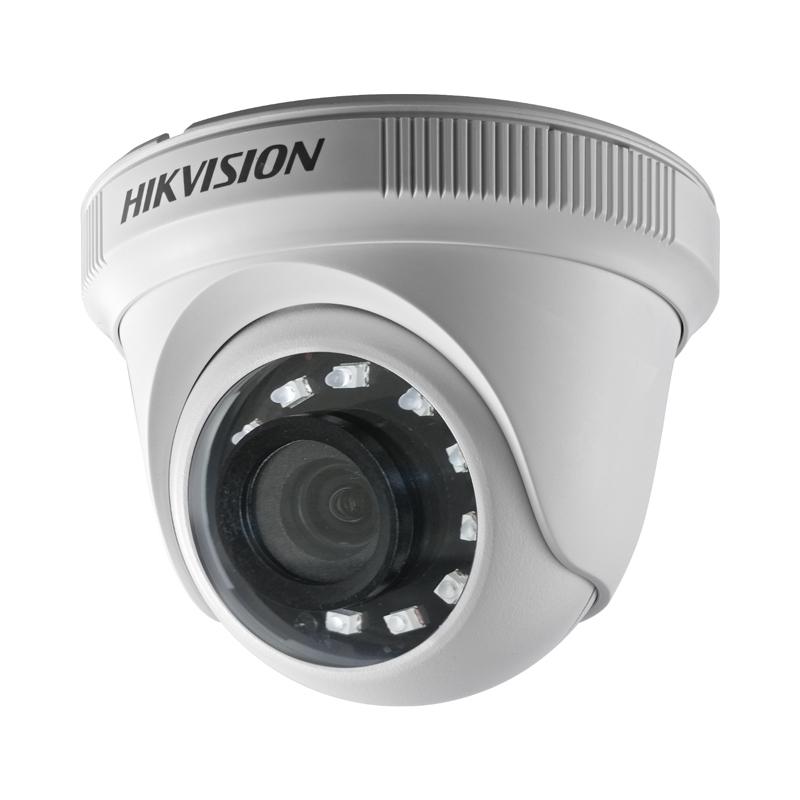Бюджетна куполна камера 2 MPx Hikvision TVI/AHD/CVI/CVBS за употреба на закрито