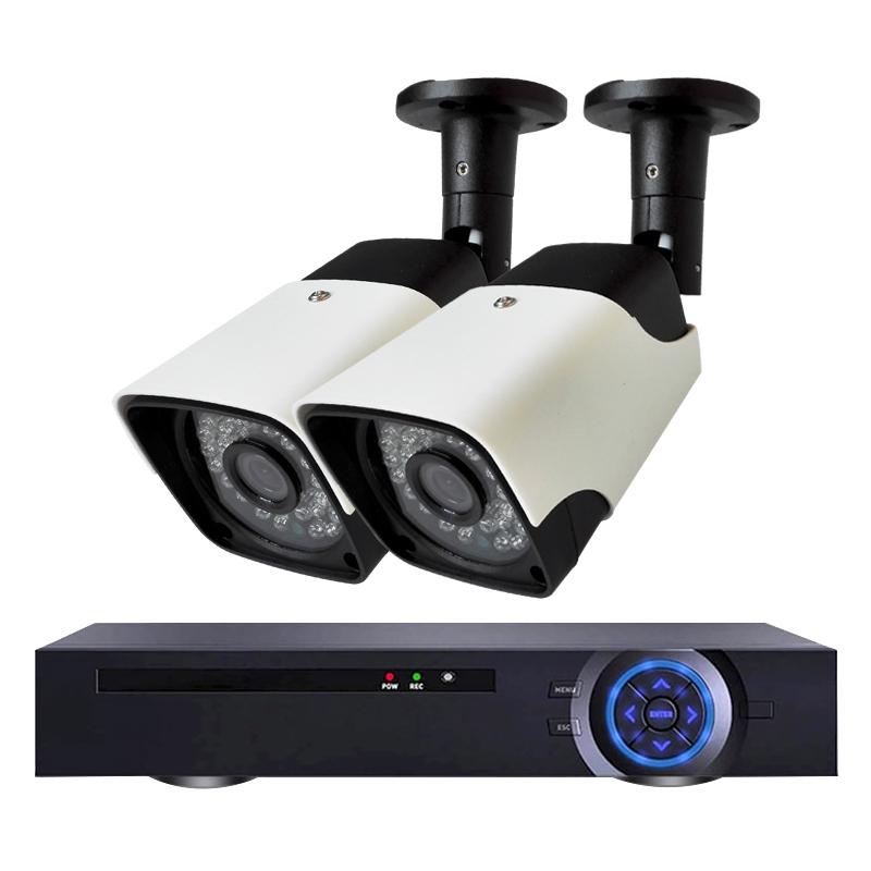 Комплект за видеонаблюдение с 2 Full HD IP камери и NVR